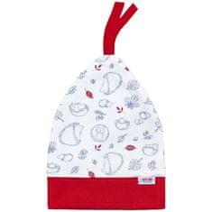 NEW BABY Kojenecká bavlněná čepička New Baby Hedgehog červená - Kojenecká bavlněná čepička New Baby Hedgehog červená