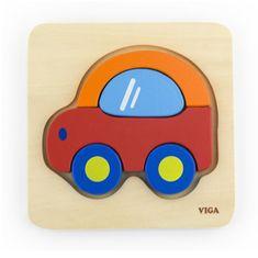 Viga Dřevěné puzzle pro nejmenší Viga Auto