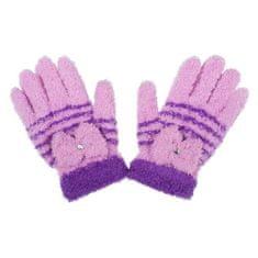 NEW BABY Dětské zimní froté rukavičky New Baby fialové - 110 (4-5r)