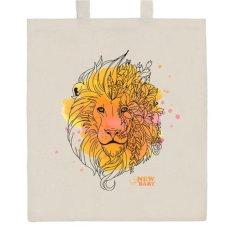NEW BABY Bavlněná nákupní taška přírodní s potiskem New Baby Lev