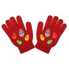 NEW BABY Dětské zimní rukavičky New Baby Girl oranžové - 122 (6-7 let)