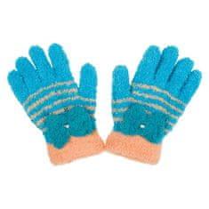 NEW BABY Dětské zimní froté rukavičky New Baby modro-oranžové - 104 (3-4r)