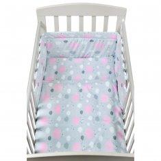NEW BABY 2-dílné ložní povlečení New Baby 90/120 cm obláčky růžové - 90 x 120 cm