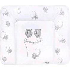 NEW BABY Přebalovací podložka měkká New Baby Emotions bílá 85x70cm
