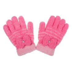 NEW BABY Dětské zimní froté rukavičky New Baby růžové - 104 (3-4r)