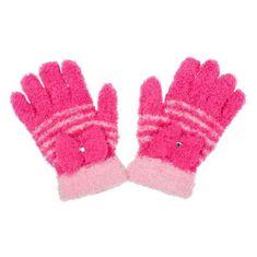 NEW BABY Dětské zimní froté rukavičky New Baby tmavě růžové - 110 (4-5r)
