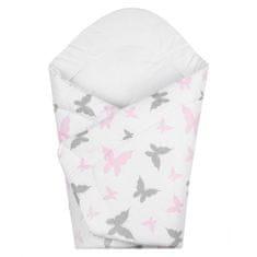 NEW BABY Dětská zavinovačka New Baby bílá motýli