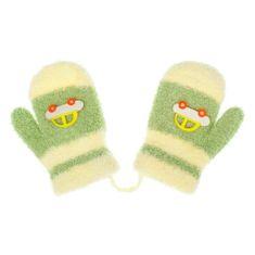 NEW BABY Dětské rukavičky New Baby s autem zelené - 80 (9-12m)