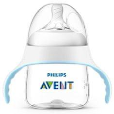 Philips Avent Kojenecká láhev a hrníček 2v1 Avent Natural transparentní 150 ml