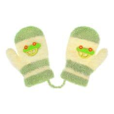 NEW BABY Dětské rukavičky New Baby s autem zeleno-béžové - 74 (6-9m)