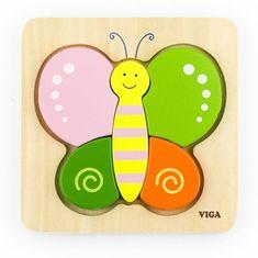 Viga Dřevěné puzzle pro nejmenší Viga Motýl