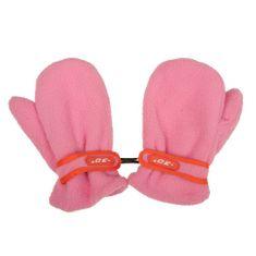 NEW BABY Dětské zimní rukavičky New Baby fleecové růžové - 104 (3-4r)