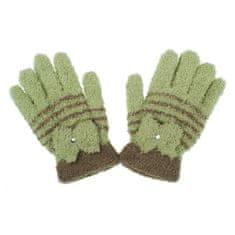 NEW BABY Dětské zimní froté rukavičky New Baby olivové - 104 (3-4r)