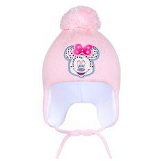 NEW BABY Zimní dětská čepička New Baby Minnie světle růžová - 104 (3-4r)