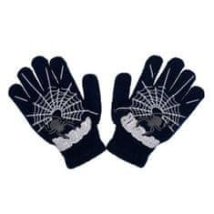 NEW BABY Dětské zimní rukavičky New Baby s pavoukem černé
