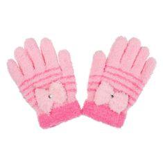 NEW BABY Dětské zimní froté rukavičky New Baby světle růžové - 110 (4-5r)