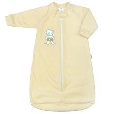 NEW BABY Kojenecký froté spací pytel New Baby medvídek žlutý - Kojenecký froté spací pytel New Baby medvídek žlutý