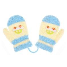 NEW BABY Dětské rukavičky New Baby s autem světle modro-modré - 80 (9-12m)