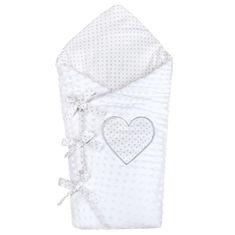 NEW BABY Luxusní šněrovací zavinovačka z Minky New Baby bílá 75x75 cm