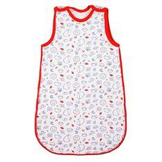 NEW BABY Kojenecký zateplený spací pytel New Baby Hedgehog červený - Kojenecký zateplený spací pytel New Baby Hedgehog červený