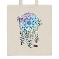 NEW BABY Bavlněná nákupní taška přírodní s potiskem New Baby Lapač snů