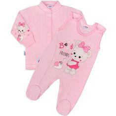 NEW BABY 2-dílná souprava New Baby myška růžová - 50 (0 m)
