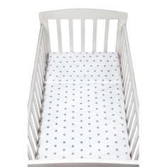 NEW BABY 2-dílné ložní povlečení New Baby šedé hvězdičky - 90x120 cm