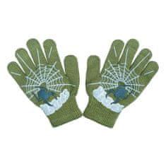 NEW BABY Dětské rukavičky New Baby s pavoukem zelené - 104 (3-4r)