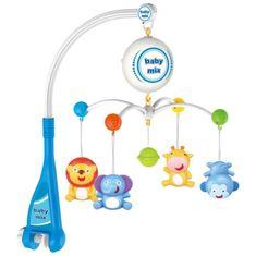 Baby Mix Elektrický kolotoč nad postýlku Baby Mix Zvířátka