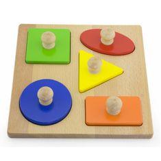 Viga Dřevěné vkládací puzzle razítka Viga Tvary