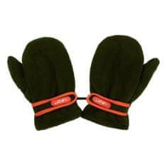 NEW BABY Dětské rukavičky New Baby fleecové tmavě zelené - 104 (3-4r)