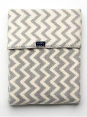 Womar Dětská bavlněná deka se vzorem Cik-Cak Womar 75x100 šedo-bílá