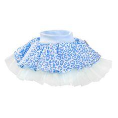 NEW BABY Kojenecká suknička s tylovou spodničkou New Baby Leopardík modrá - 62 (3-6m)