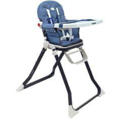 Baby Mix Jídelní židlička Baby Mix Smart navy