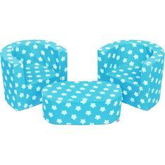 NEW BABY Dětská sedací souprava New Baby hvězdičky modrá