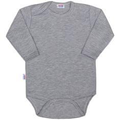 NEW BABY Kojenecké body New Baby Classic II šedé - 80 (9-12m)