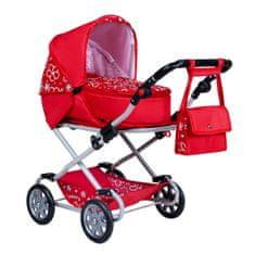NEW BABY Dětský kočárek pro panenky 2v1 New Baby Monika červený