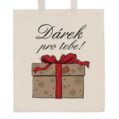 NEW BABY Bavlněná nákupní taška přírodní s potiskem New Baby Dárek pro tebe!