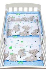 NEW BABY 2-dílné ložní povlečení New Baby modré se sloníky - 2-dílné ložní povlečení New Baby modré se sloníky