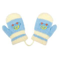 NEW BABY Dětské zimní rukavičky New Baby s autem světle modré - 80 (9-12m)