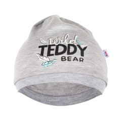 NEW BABY Kojenecká bavlněná čepička New Baby Wild Teddy - Kojenecká bavlněná čepička New Baby Wild Teddy