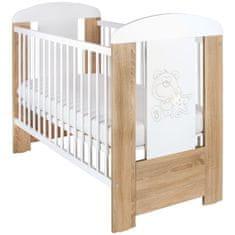 NEW BABY Dětská postýlka New Baby Medvídek s hvězdičkou standard dub