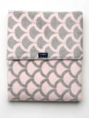 Womar Dětská bavlněná deka se vzorem Womar 75x100 růžovo-šedá