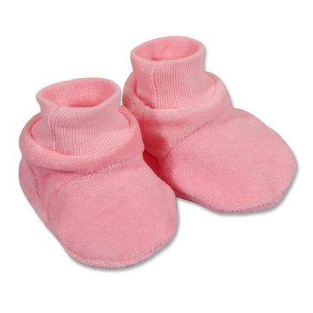NEW BABY Dětské bačkůrky New Baby růžové - 62 (3-6m)
