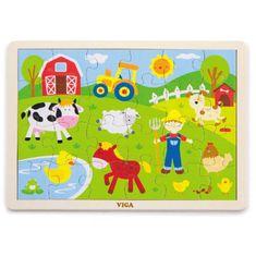 Viga Dětské dřevěné puzzle Viga Farma