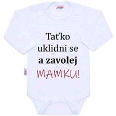 NEW BABY Body s potiskem New Baby a zavolej MAMKU! - Body s potiskem New Baby a zavolej MAMKU!