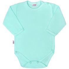 NEW BABY Kojenecké celorozepínací body New Baby Classic II mátové - 50 (0 m)
