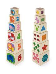 Viga Dřevěná pyramida pro děti Viga