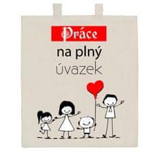 NEW BABY Bavlněná nákupní taška přírodní s potiskem New Baby Práce na plný úvazek