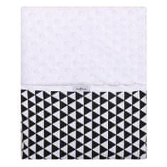 Womar Dětská oboustranná deka z Minky Womar 75x100 černo-bílá